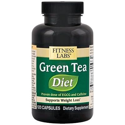 Fitness Labs Green Tea Diet 135mg ECGC, 75mg Caffeine, 120 Capsules