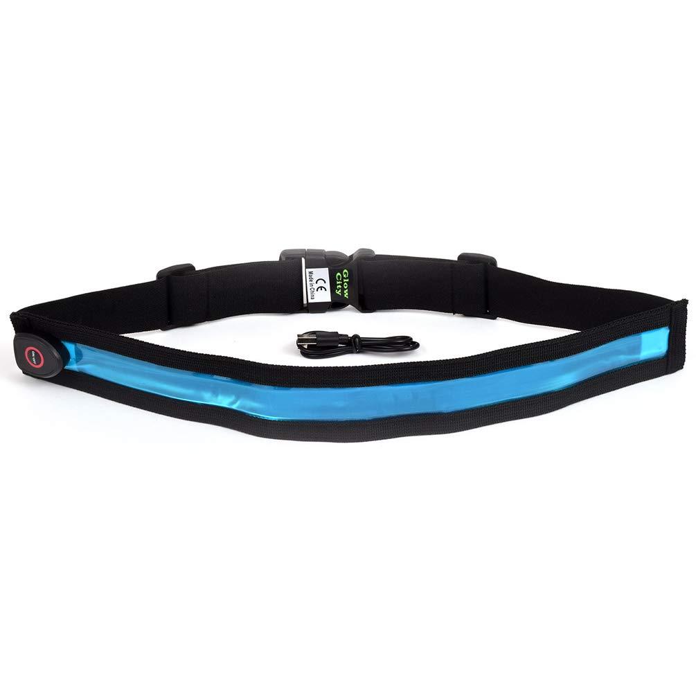 GlowCity LEDライトアップ安全ベルト B07GFQGFG9 ブルー