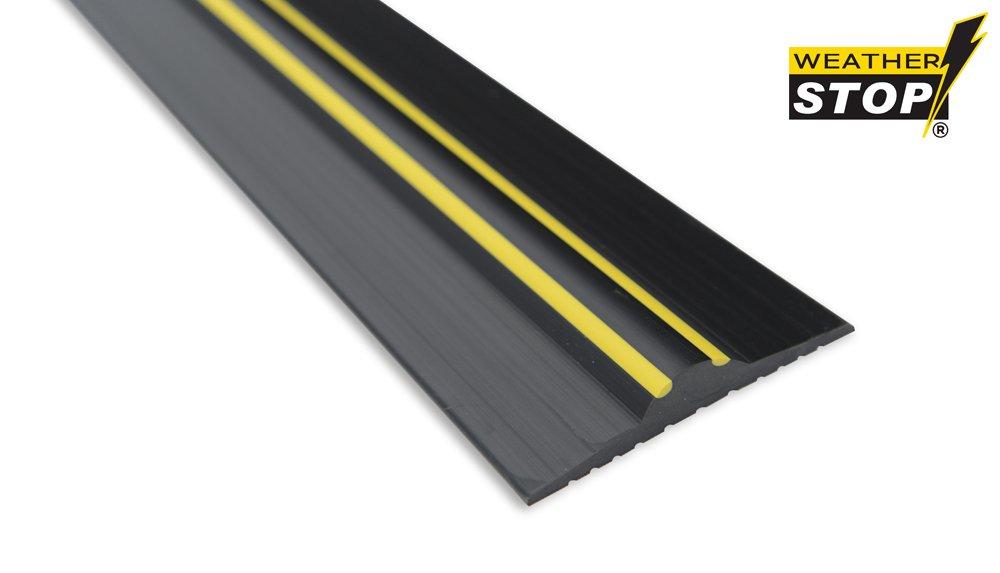Weather Stop WS003-434 14.3-Inch x 20 mm High Garage Door Threshold Seal Kit - Black