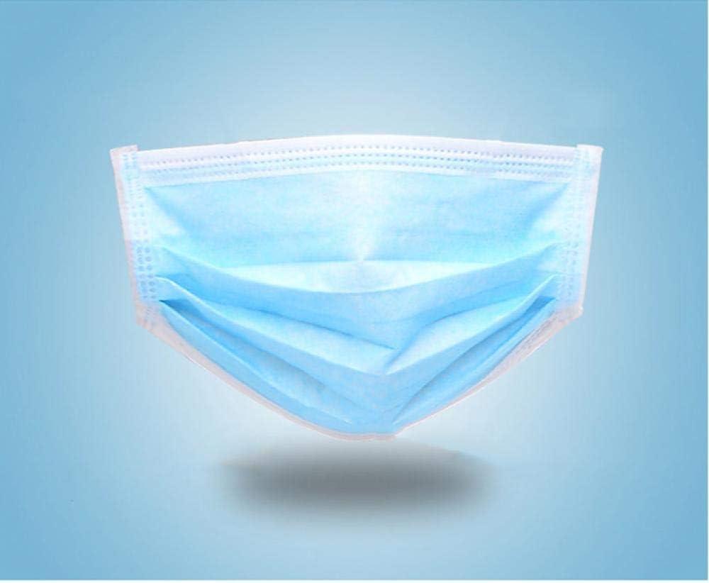 Máscara desechable, Oreja Colgante elástica Tipo 3 Capas Azul, a Prueba de Polvo, a Prueba de contaminación, máscara de Seguridad Transpirable (20PCS)-20 PCS_Azul