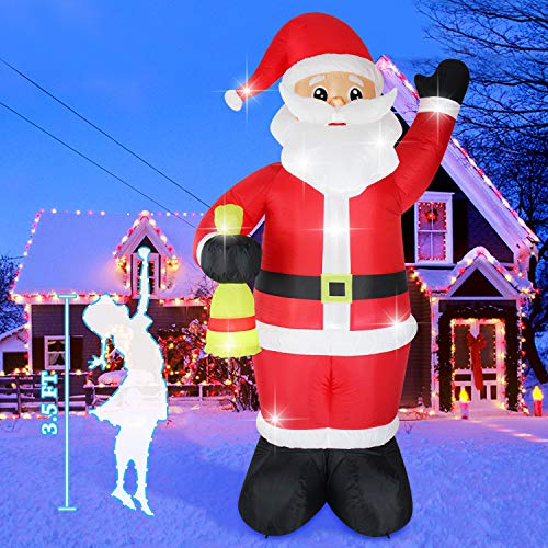 Fanshunlite Christmas Inflatable 8FT Santa Claus with Lighted Blow-Up Yard Party Decoration for Xmas Airblown Inflatable Outdoor Indoor Home Garden Family Prop Yard from Fanshunlite