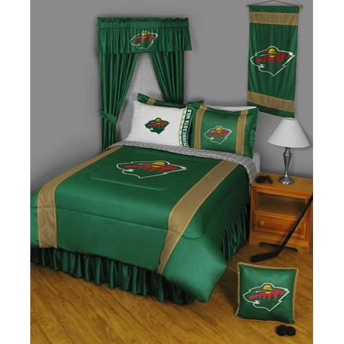 Sidelines Comforter Twin Collection - Minnesota Wild NHL