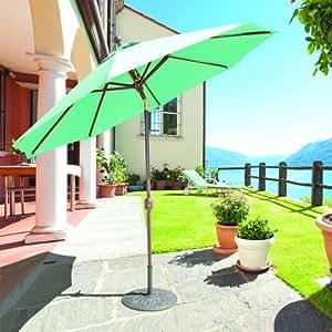Galtech 9ft. Plata Deluxe Automático inclinación paraguas–Cacao Sunbrella