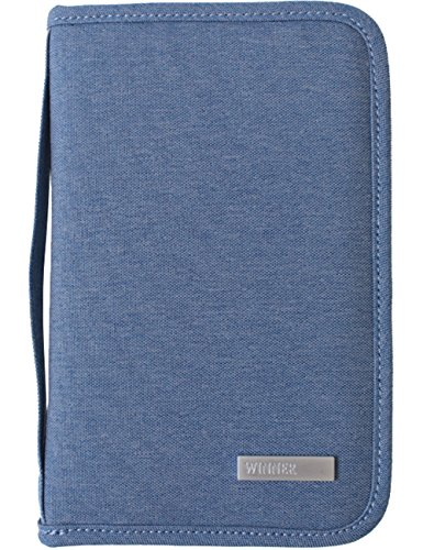 Travel Document Wallet With Hand Strap (Blue) - 3