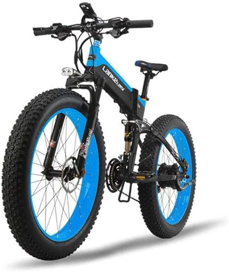 Bicicleta plegable, neumático de montaña de 26 pulgadas de ancho ...