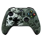 Cheap eXtremeRate Lonely Skull Patterned Soft Touch Grip Front Housing Shell Faceplate for Xbox One S & Xbox One X Controller