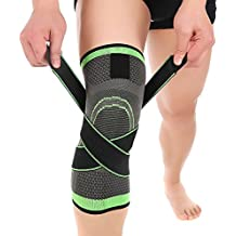 HipStone Knee Sleeve, Compression Fit Support -for Joint Pain and Arthritis Relief, Improved Circulation Compression - Wear Anywhere - Single