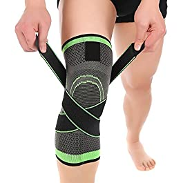 Knee Sleeve, Compression Fit Support -for Joint Pain and Arthritis Relief, Improved Circulation Compression – Wear Anywhere – Single