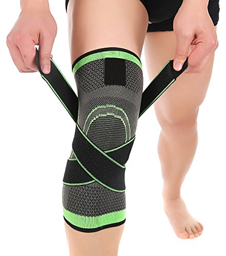 ASOONYUM HipStone kneesM Keklle Knee Sleeve, Compression Fit Support -for Joint Pain and Arthritis Relief, Large, Green -