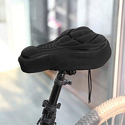 OUTAD Unisex Comfortable Cycling / Bicycle 3D EVA Adult Bike Saddle / Seat Soft Cover, Anti-slipping Cushion Pad for BMX Bike, Mountain Bike, Road Bike, Black