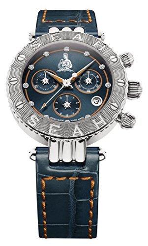 Seah-Galaxy-Zodiac-sign-Aquarius-Limited-Edition-38mm-Silver-Tone-Swiss-made-Luxury-watch