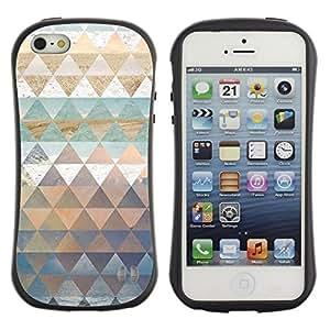 """Hypernova Slim Fit Dual Barniz Protector Caso Case Funda Para Apple iPhone SE / iPhone 5 / iPhone 5S [Patrón Polígono arte de la naturaleza de la nieve del cielo del mar""""]"""