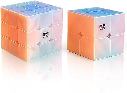 Qiyi Speed Cube Set Qidi S 2x2 Warrior W 3x3 Qiming Pyramid Magic Cube Puzzle
