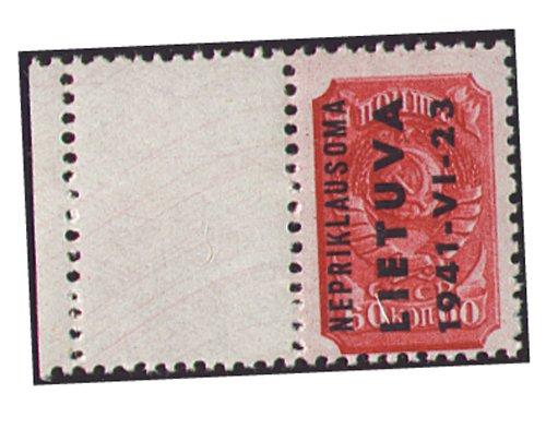 Goldhahn Deutsche Besetzung Litauen Nr. 8L postfrisch  Leerfeld Briefmarken für Sammler