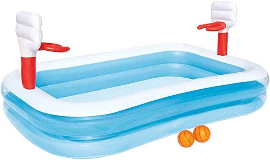 Mopoq ウォーターパーク子供用パドリングプールインフレータブルプールホームパドリングプール楽しい撮影2層プール(98.81in66.14in17.71in)