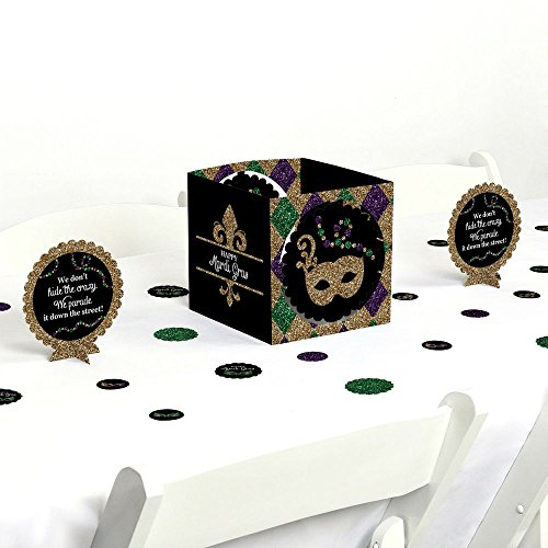 Mardi Gras - Masquerade Party Centerpiece & Table Decoration Kit