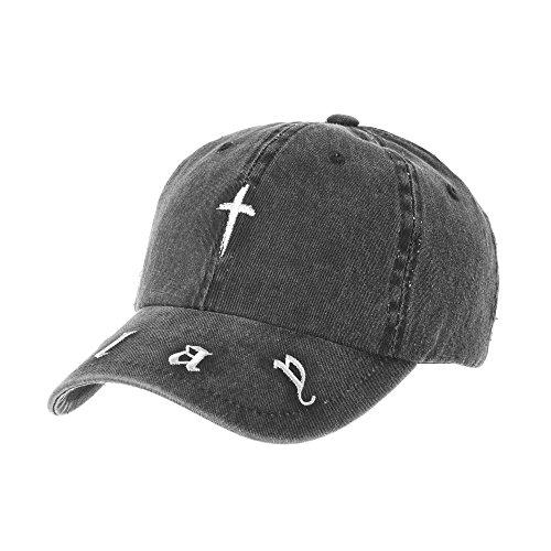 Buena WITHMOONS Gorras de béisbol gorra de Trucker sombrero de Baseball Cap  Vintage Cotton Cross Slay 76640b0d38a
