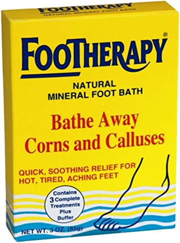 FooTherapy Natural Mineral Foot Bath, Soothing Relief For Tired, Sore Feet, 3 oz (Pack of 11) (Footherapy Foot Bath)