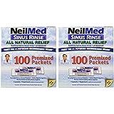 Sinus Rinse Regular Mixture Packets - Relieves Allergies & Sinus Symptoms, 100 Salt Premixed Packets,(neilmed) (Packf of 2)