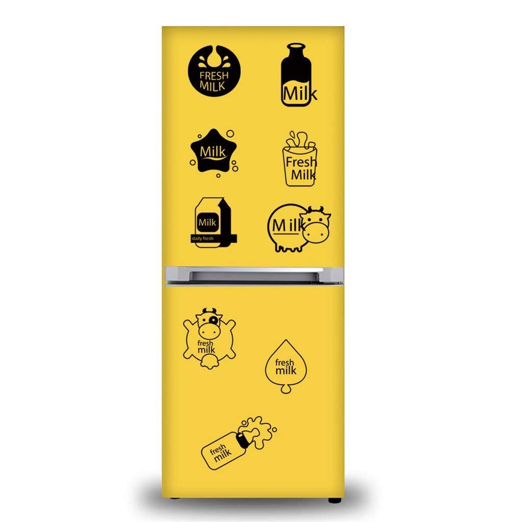 Cute Cartoon Drink Refrigerator Sticker Mobile Creative Detachable Wall Sticker Decoration 42X40cm