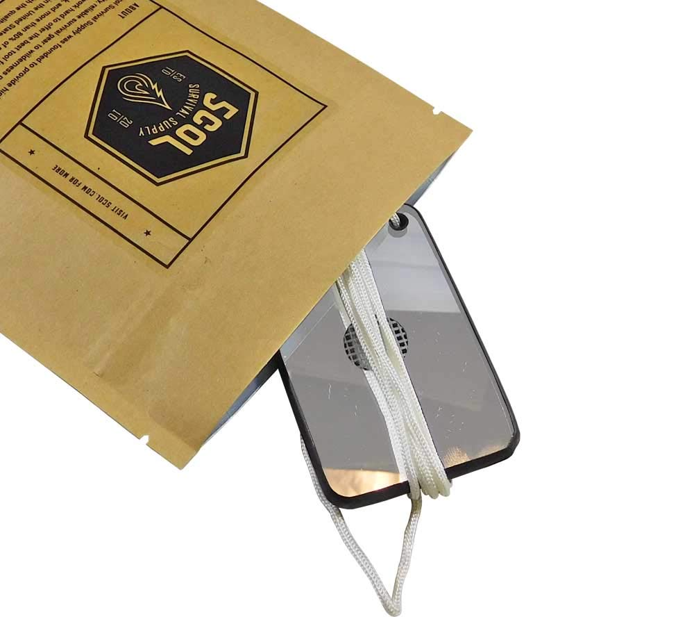 MIL-M-18371E Emergency Signalling Mirror, Mark 3, Military Issue (2 in. x 3 in.)