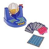 Fun Mini Bingo Game Bingo Card Ball Chip Machine Set Family Party Kids
