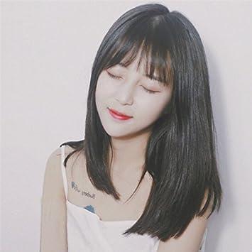 Medium Length Korean Hairstyle With Bangs - medium hairstyles
