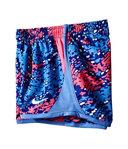 Nike Jenter Tørre Tempo Kjører Shorts Dyp Natt (26a717-603) / Hvit / Rosa