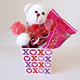 Gifts Flowers Food Best Deals - Valentines Day Gift Box Set Chocolate Heart Candy Flower Plush Bear
