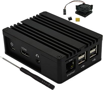 Caja de chasis de Aluminio con Ventilador de refrigeración para ASUS Tinker Board S Raspberry Pi 2 Modelo 3B Raspberry Pi 2 Modelo 3B +: Amazon.es: Electrónica