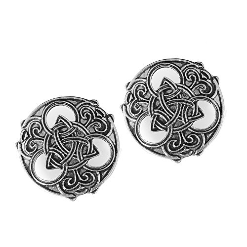 idavallen Viking Celtic Triquetra Brooch Pin- 2pcs Medieval Viking Brooch Pin Set Norse Jewelry Pagan Amulet Wiccan Brooch OvalSingle Piece Brooch Handmade with Celtic Dragon Design Viking Jewelry ()