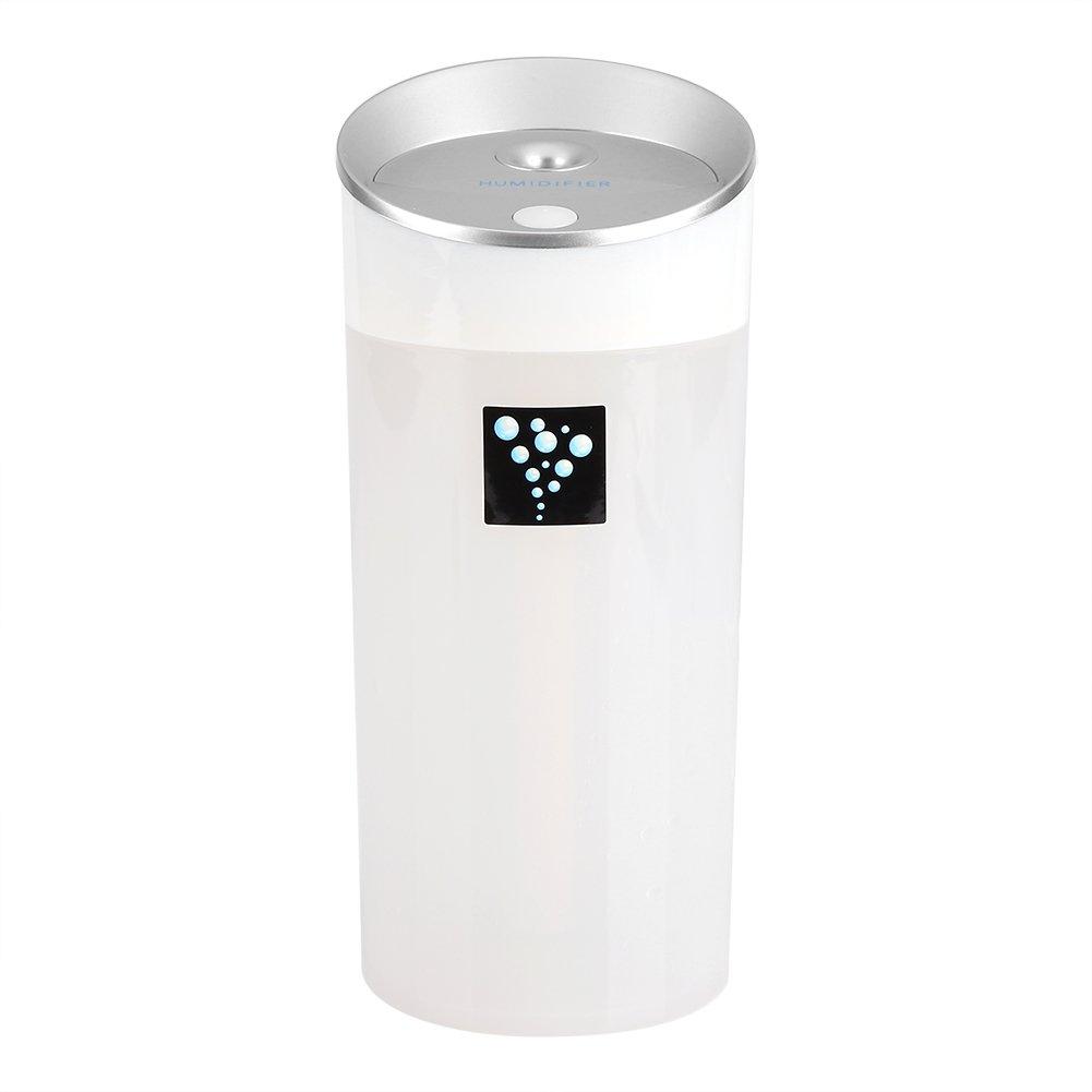TOPINCN DC5 V 300 ML USB portá til humidificador LED luz de la Noche Difusor de Aceite Esencial ultrasó nico Niebla Oficina de Coches decoració n para el hogar(Blanco)