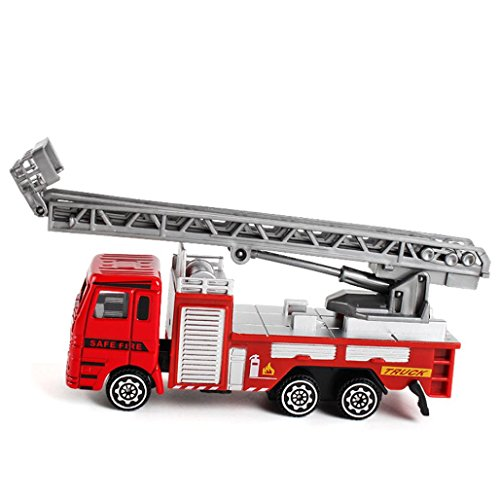 Gbell Mini Alloy Engineering Truck Car Toy - Kids Birthday Gift Fire Rescue Car Toys for Toddlers Baby Boys 1 Years Over (C)