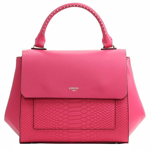GUESS Women's Evette Python-Embossed Satchel