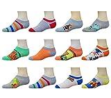 Ikey Mikey Boys No Show Socks (12 Pack)