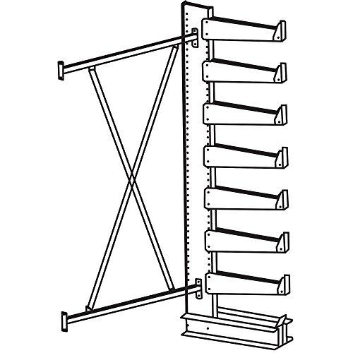 Jarke Quiktree Light-Industrial Grade Cantilever Rack - 72X21x84
