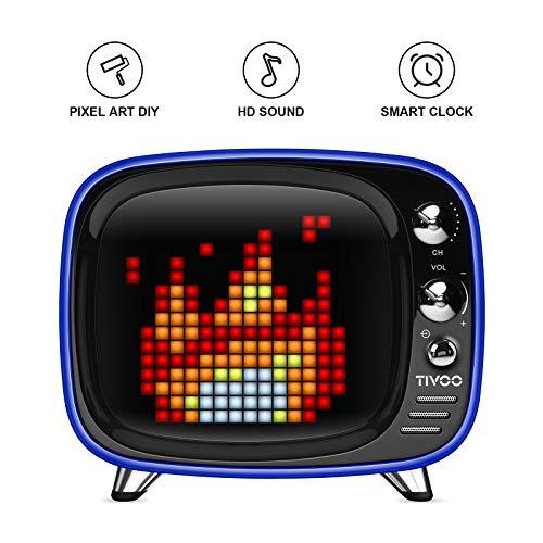 (Tivoo Smart Pixel-Art Bluetooth Speaker (Royal Blue))