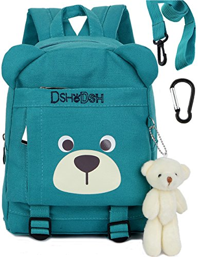 Kids Children Toddler Backpack Hiking Kid Bags Bear for Boys Grils Under 3 Years (Color-Blue)