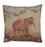 Cushion - Tapestry Fabric, French, Elegant & Fine - (Animal & Wildlife) - Elephant (7799)