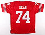 """Fred Dean #74 Signed San Francisco 49ers Jersey Inscribed """"HOF 08"""" (JSA COA)"""