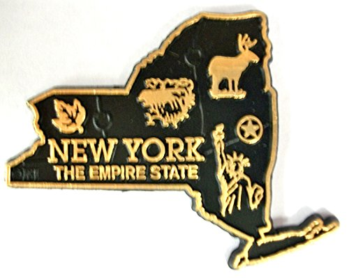 New York The Empire State Map Fridge Magnet (New York Refrigerator Magnet)