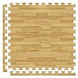 Alessco SWLO0810 Softwoods Tile Set, 8' x 10', Light Oak
