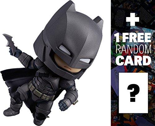 Armored Batman (Justice Edition): Nendoroid x Batman v Superman 'Dawn of Justice' Mini Action Figure + 1 FREE Official DC Trading Card Bundle (#628)