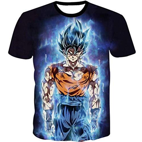 97baa4daa98c Unbranded Womens Mens 3D Cartoon T-Shirt Dragon Ball Z Goku Anime Super  Saiyan Tee