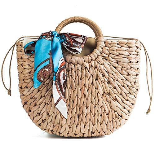 Handbags Bags Straw Bag Summer Beach Retro Hobo Women woven Rattan for Tote Hand Bags gwnATwqd4