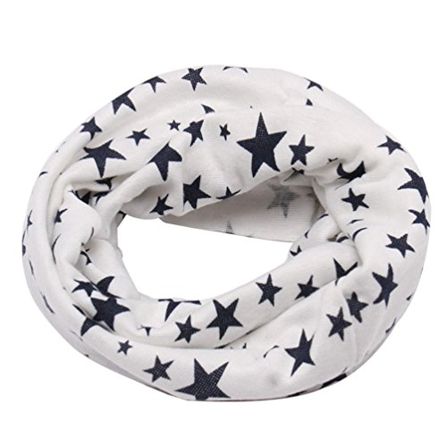 TAORE Knit Woolen Baby Scarf Neck Winter Warmer Neckerchief (White A)