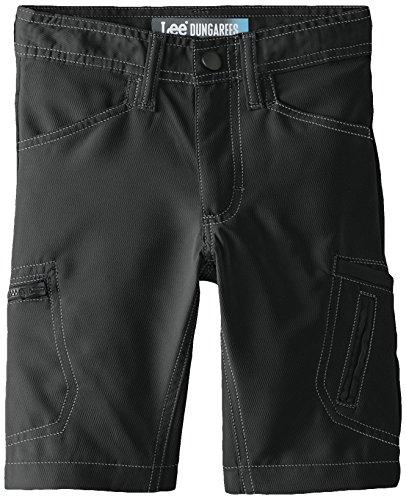 Lee Little Boys' Dungarees Grafton Cargo Short, Black, 7