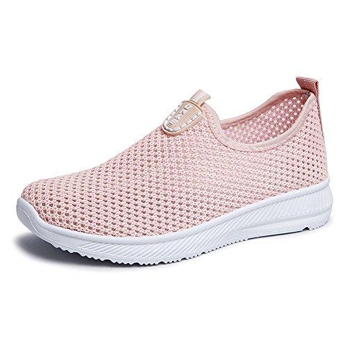 Aqua Men Athletic Sports Sport Shoes Water Running Women Slip On Shoes Quick Drying pit4tk Pink Sneakers Hv8tq1B