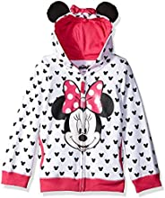 Disney Girls' Minnie Hoodie with Bow and