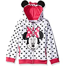 Disney Girls' Minnie Hoodie with Bow and Ear